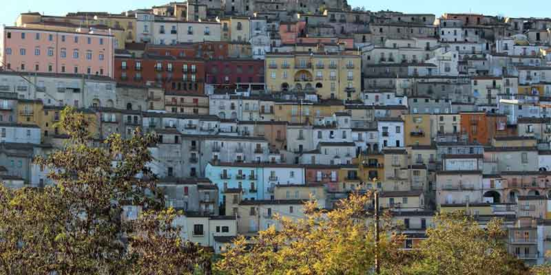 Vista di Calitri, città in provincia di Avellino