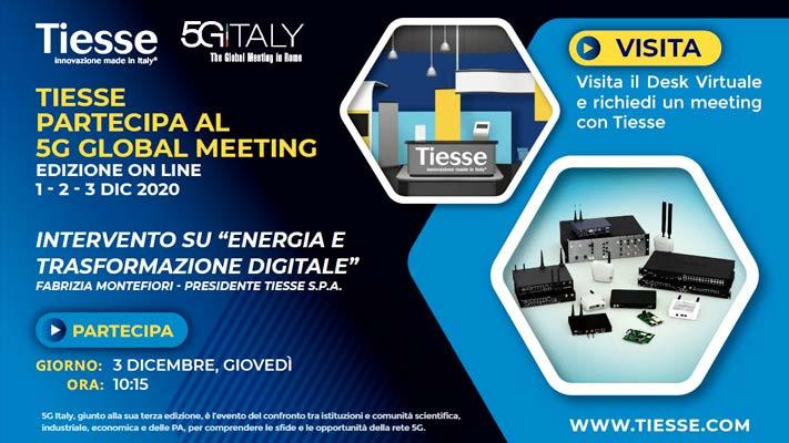 Invito al desk virtuale Tiesse all'interno del 5G Italy Global Meeting 2020