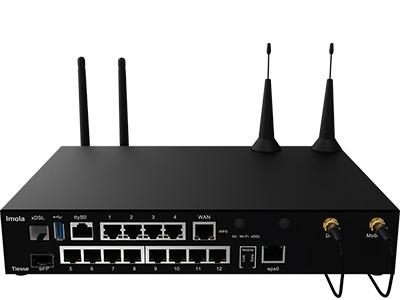 Vista frontale del router Imola 5872-IKF-IKW-PoE