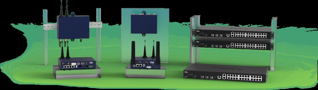 Prodotti professionali Tiesse per le reti dati: gateway TGR e switch Elba