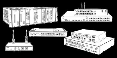 Disegno dei Router, switch e gateways Tiesse